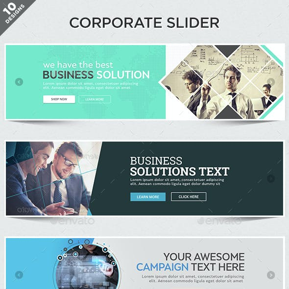 Corporate Sliders  - 10 Designs