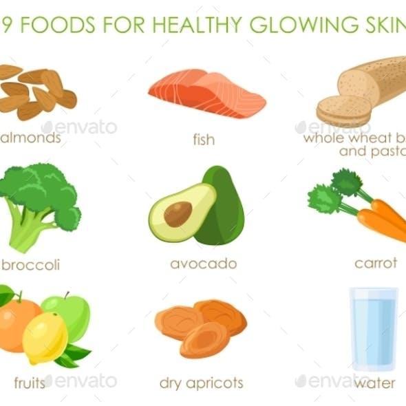 Nine Foods for Healthy Skin
