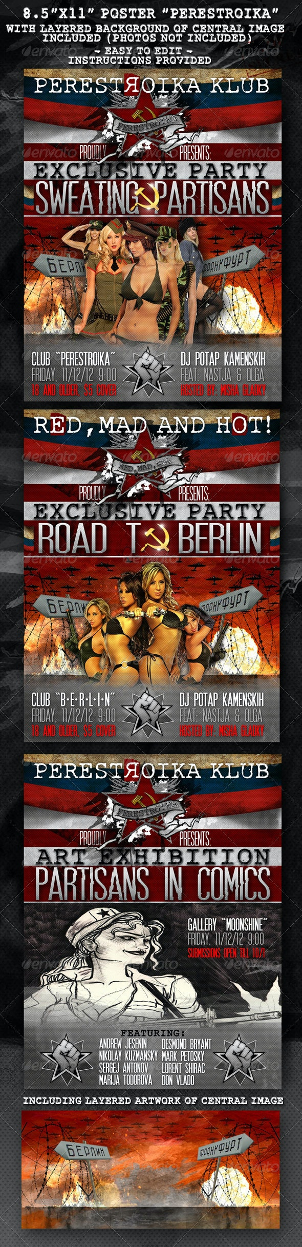 """8.5""""x11"""" Poster """"Perestroika"""" - Clubs & Parties Events"""