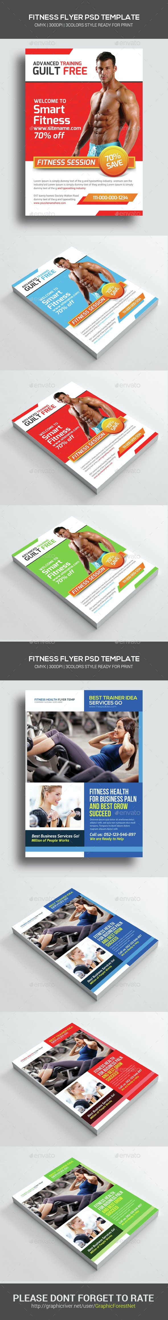 Health & Fitness Flyers Bundle - Corporate Flyers