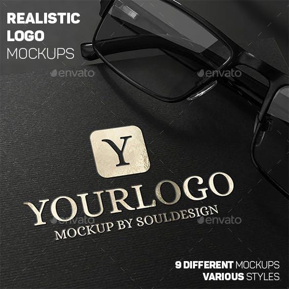 Premium Realistic Logo Mockups