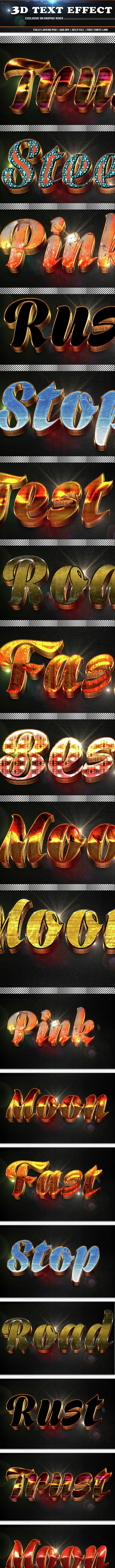3d Text Effect - Text Effects Styles
