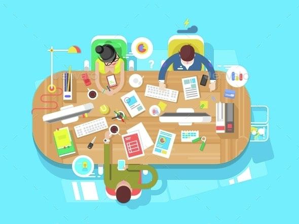 Conference Office Workspace - Miscellaneous Vectors