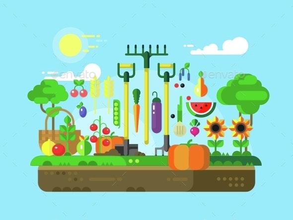 Gardening Design Flat - Food Objects