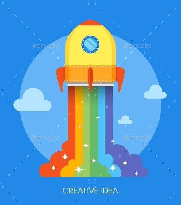 Space Rocket Launch Concept - Concepts Business