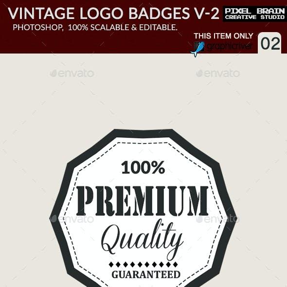 Vintage Logo Badges Set Vol.2