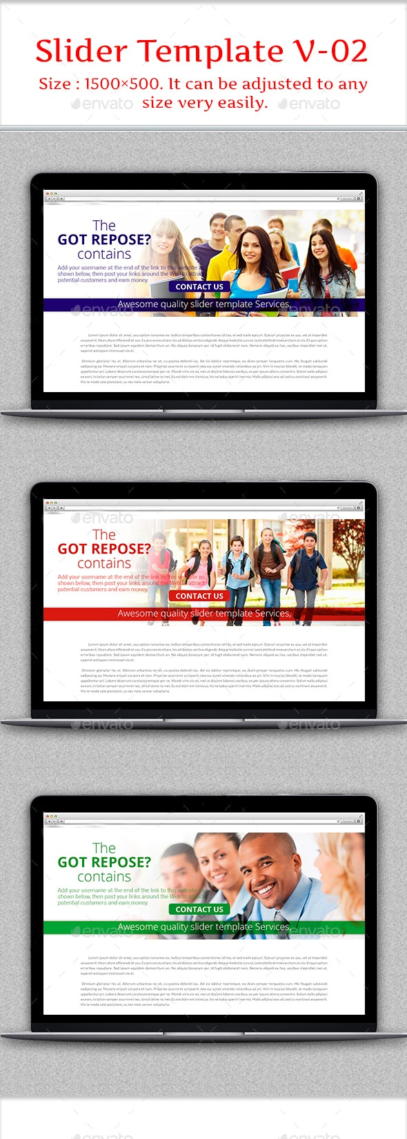Slider Template V-02 - Banners & Ads Web Elements
