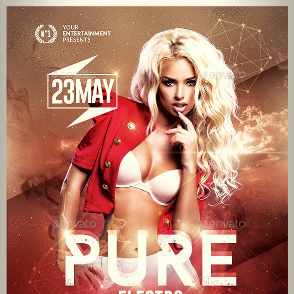Pure Electro Flyer | Psd Template v2