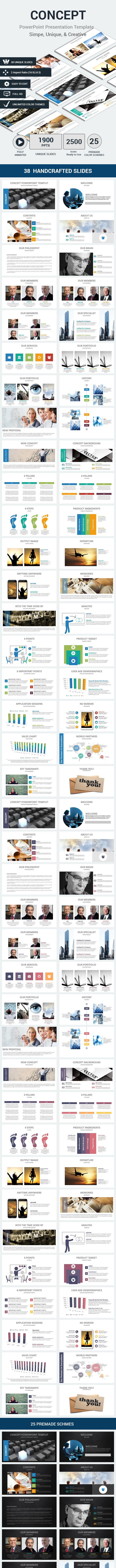 Concept PowerPoint Presentation Template - PowerPoint Templates Presentation Templates