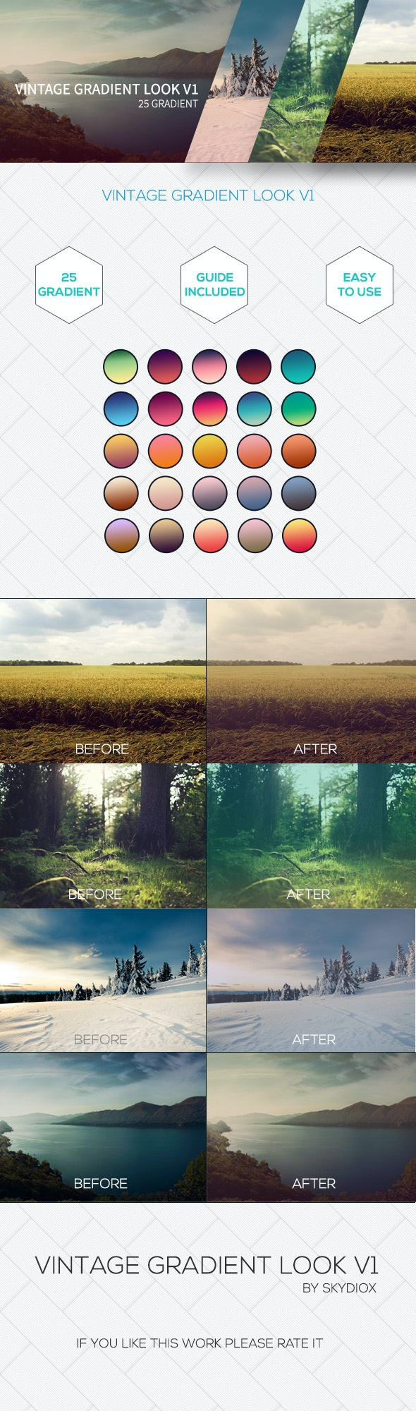 Vintage Style Look V1 - Photoshop Add-ons