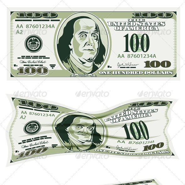 Set of Dollar Bills