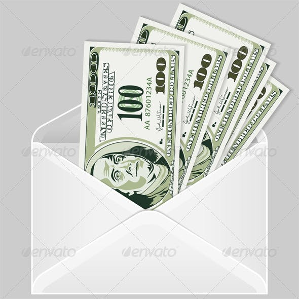 Open the Envelope with Dollar Bills