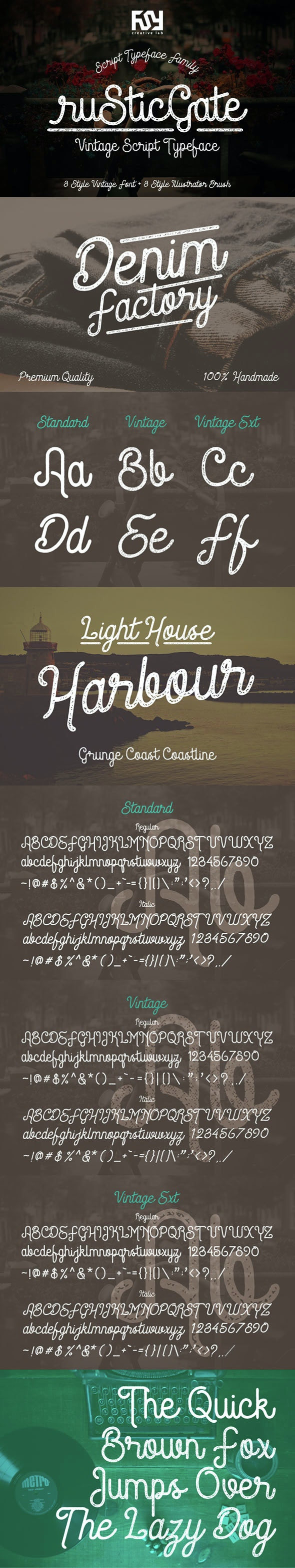 Rustic Gate Vintage Font - Fonts