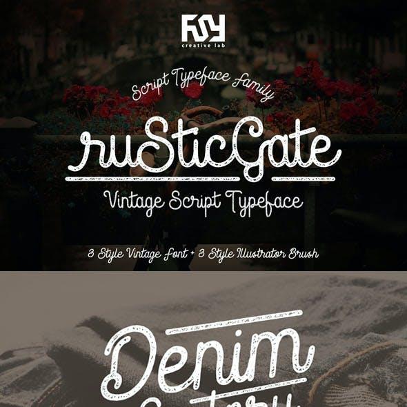 Rustic Gate Vintage Font