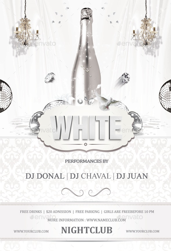White Flyer - Clubs & Parties Events