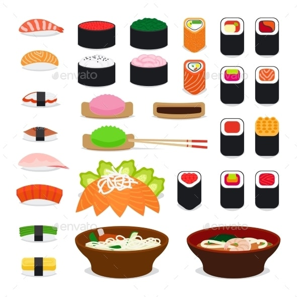 Asia Food Icons - Food Objects