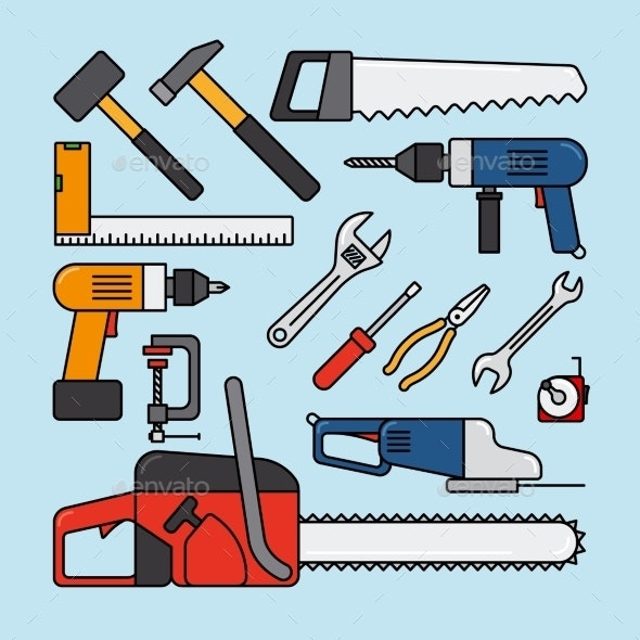 Working Tools Icons - Man-made Objects Objects