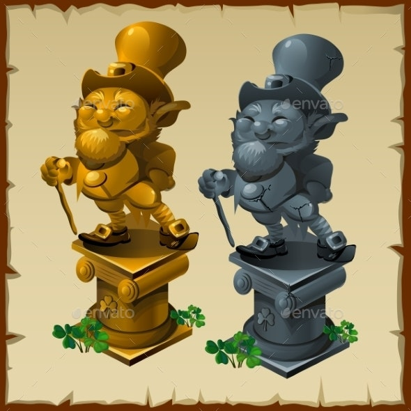 Mens Statues Made Of Gold And Bronze - People Characters
