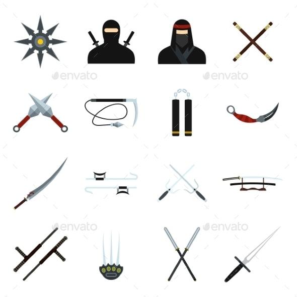 Ninja Flat Icons Set - Miscellaneous Icons