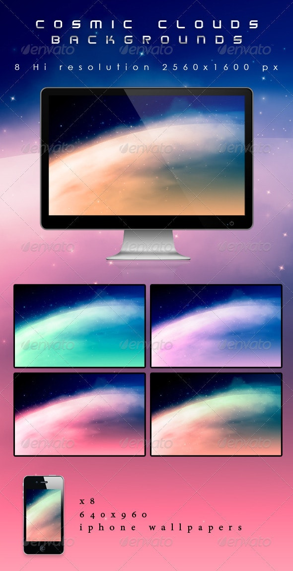 Cosmic Clouds Backgrounds - Backgrounds Graphics