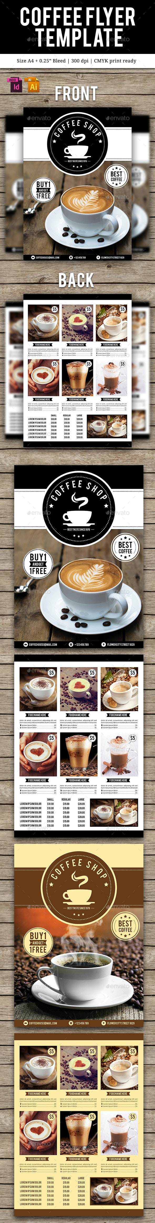 Coffee Flyer Template Vol. 2 - Flyers Print Templates
