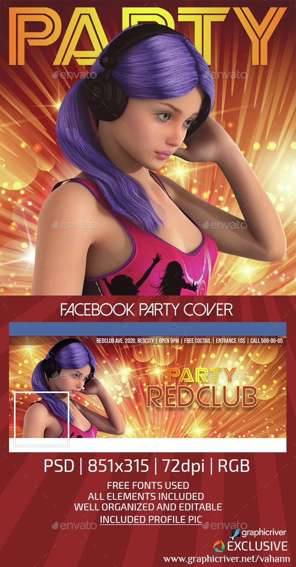 Club Party Seamless Facebook Cover - Facebook Timeline Covers Social Media