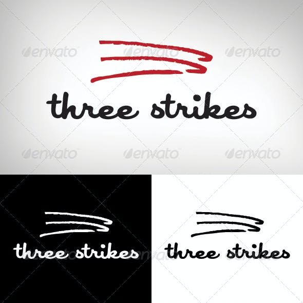 3 Strikes Logo Template