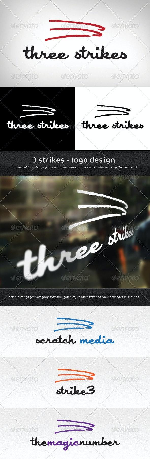 3 Strikes Logo Template