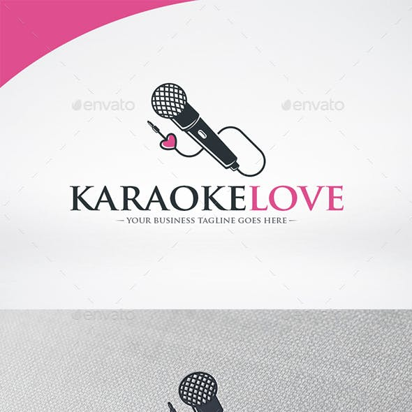 Karaoke Love Logo Template