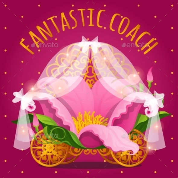 Fairytale Carriage From Princess Made Of Flower - Flowers & Plants Nature