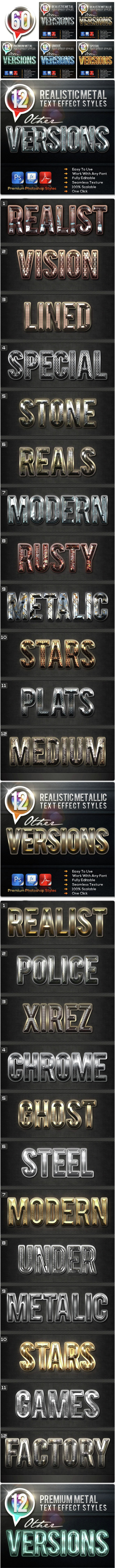 60 Font Styles Other Versions - Text Effects Styles