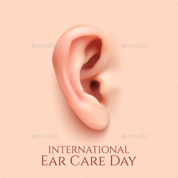 International Ear Care Day  Background. - Objects Vectors