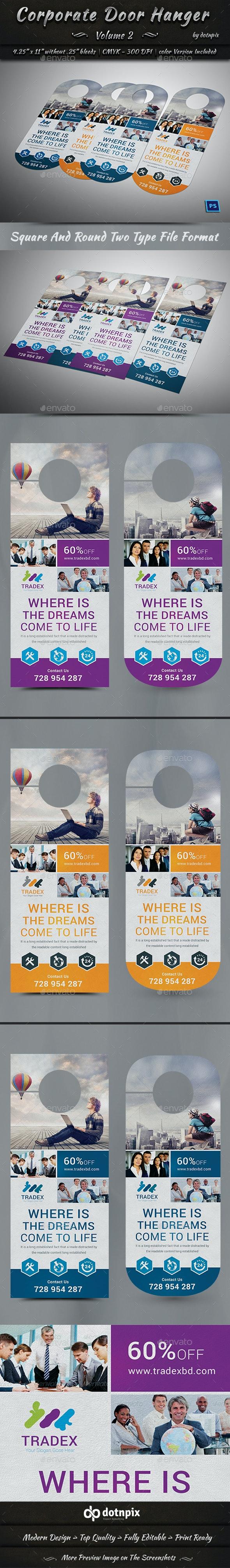 Corporate Door Hanger - V2 - Miscellaneous Print Templates