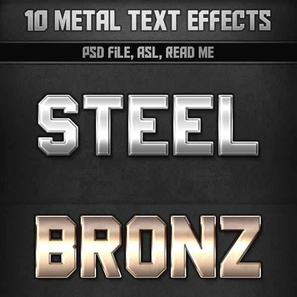 10 Metal Text Effects