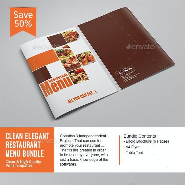 Clean Elegant Restaurant Menu Bundle