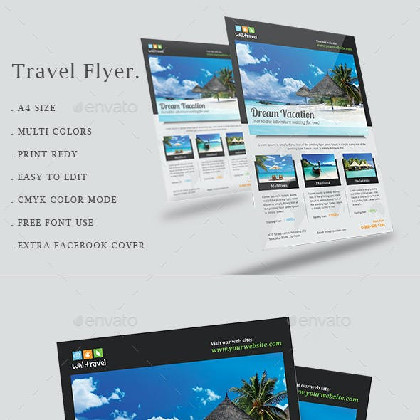 Travel Flyer / Vacation Flyer
