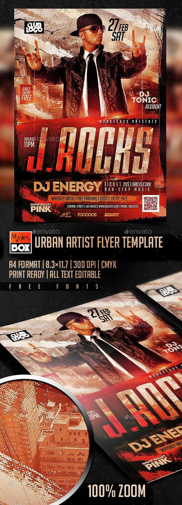 Urban Artist Flyer Template - Clubs & Parties Events