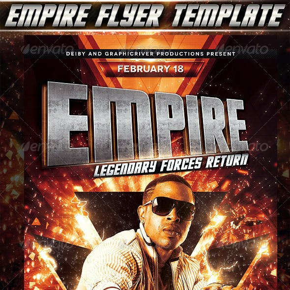 Empire Flyer Template