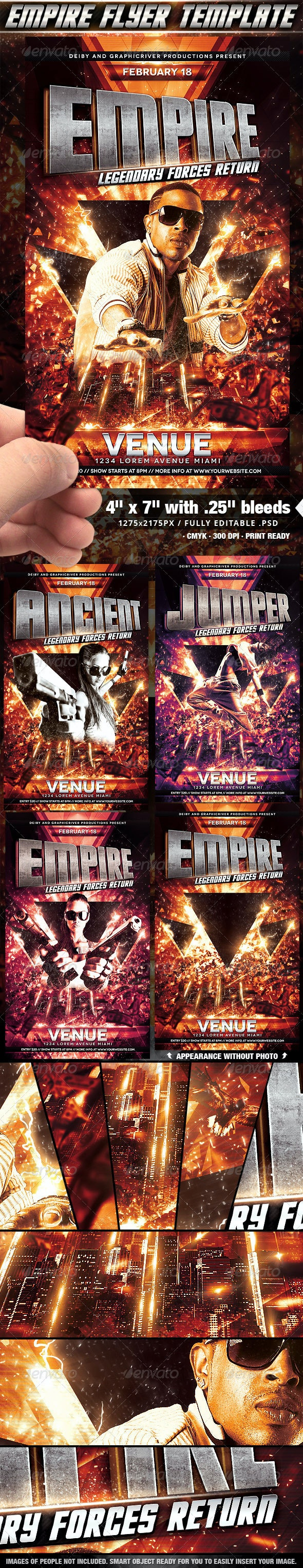 Empire Flyer Template - Clubs & Parties Events