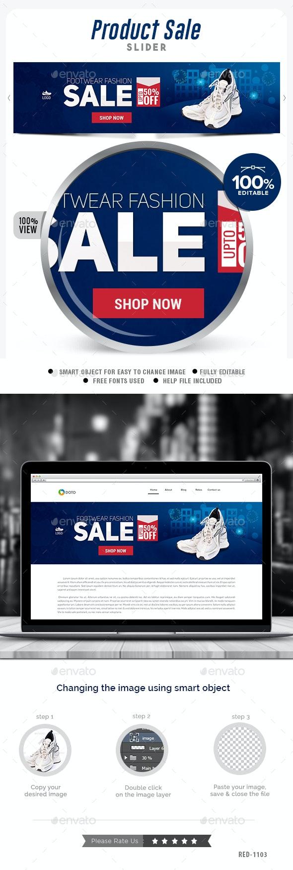 Product Sale Slider - Sliders & Features Web Elements