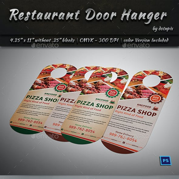 Restaurant Door Hanger