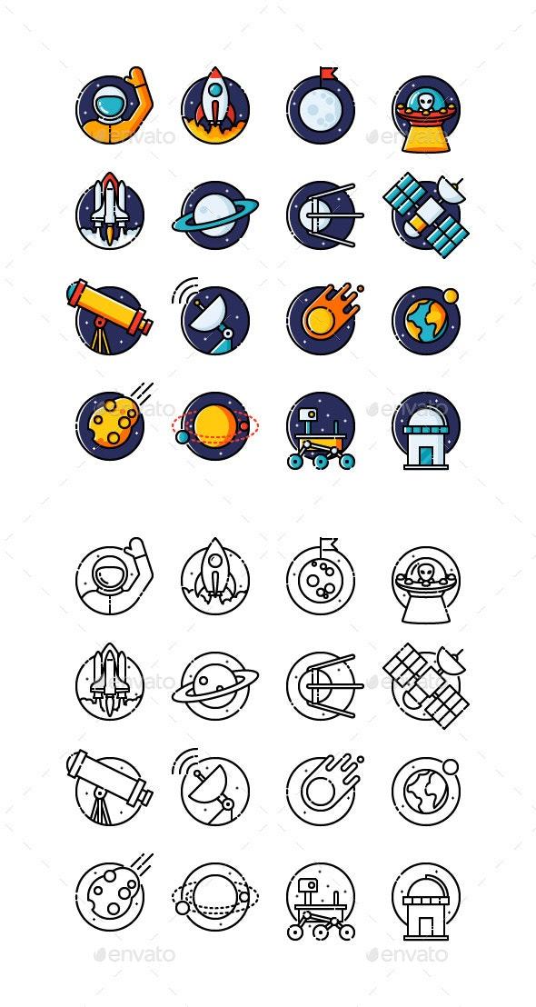Space Icon Set - Miscellaneous Icons