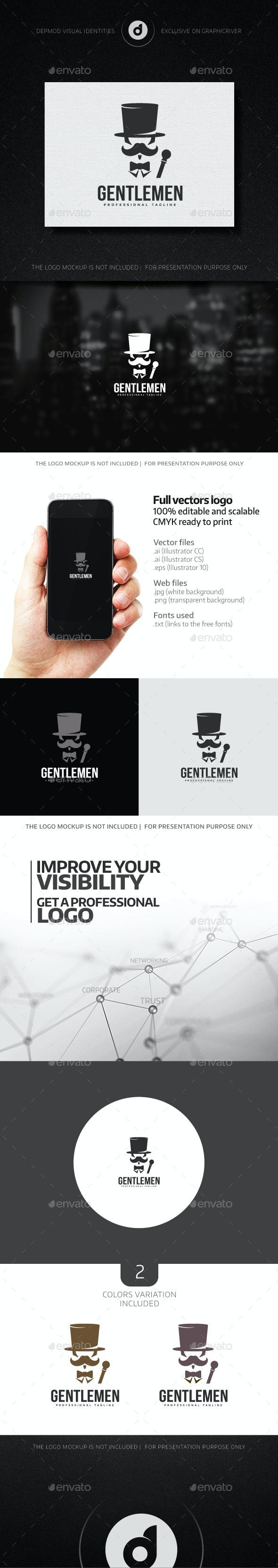 Gentlemen Logo - Humans Logo Templates