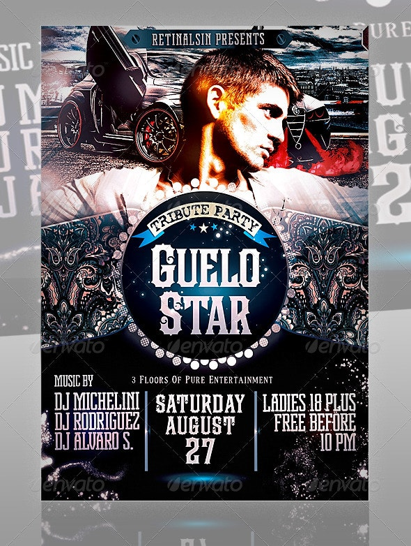 Guelo Star Flyer Template - Clubs & Parties Events