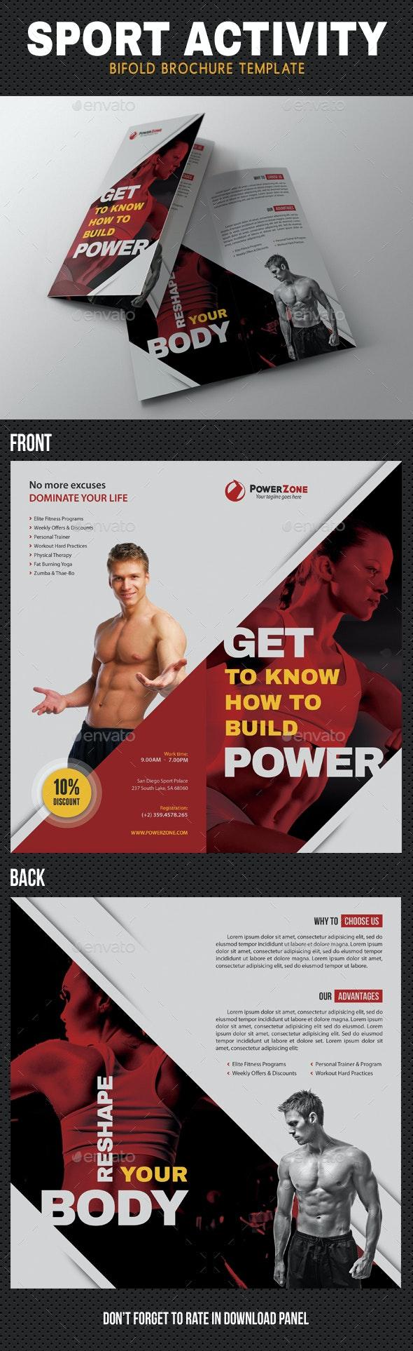 Sport Activity Bifold Brochure 02 - Brochures Print Templates