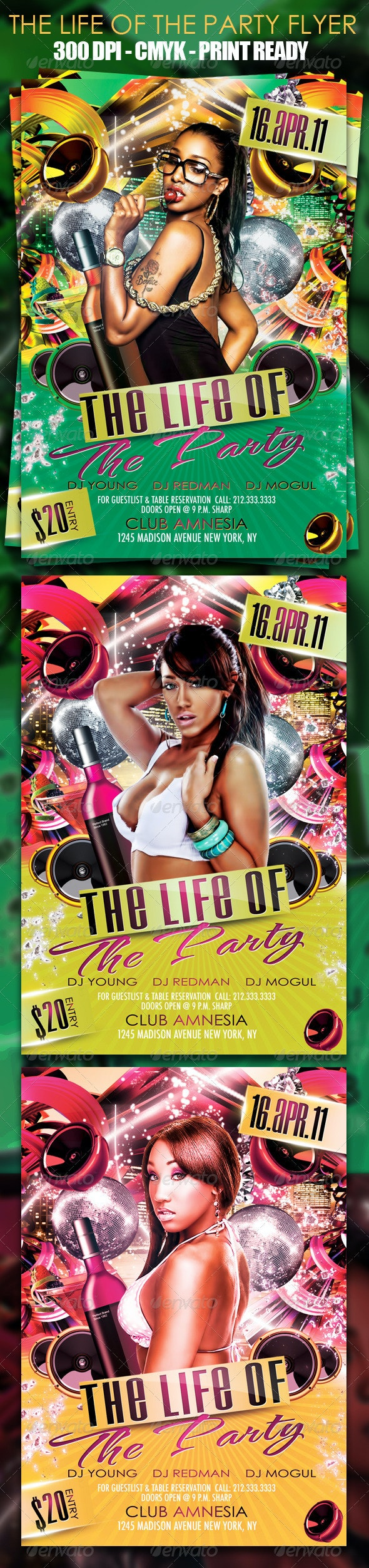 The Life Of The Party Flyer Template - Clubs & Parties Events