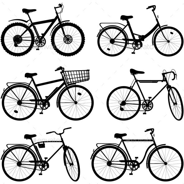 Bicycle Pictogram Set 2 - Sports/Activity Conceptual