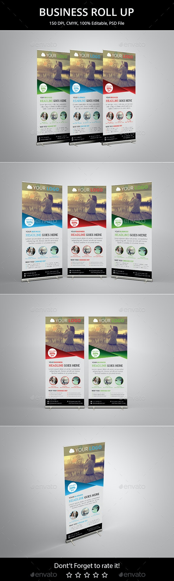 Business Roll up v5 - Signage Print Templates