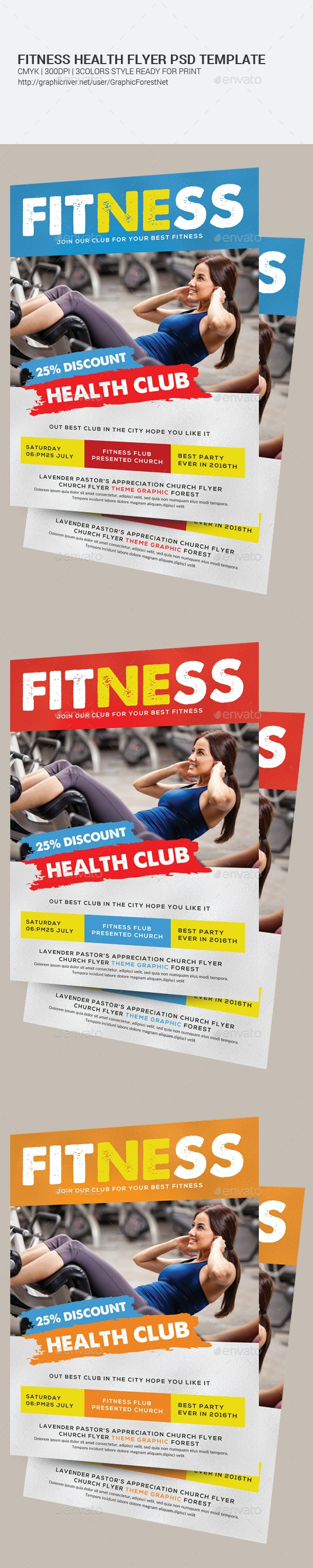 Fitness Flyer Template  - Corporate Flyers