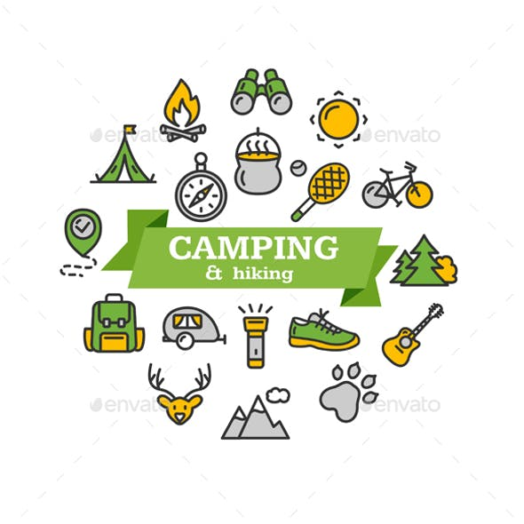 Camping Tourism Hiking Concept